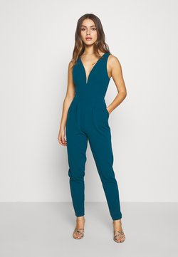 WAL G PETITE - PETITE EXCLUSIVE V NECK - Jumpsuit - teal