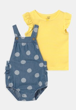 Carter's - CHAMBRAY SET - T-shirt print - blue/yellow