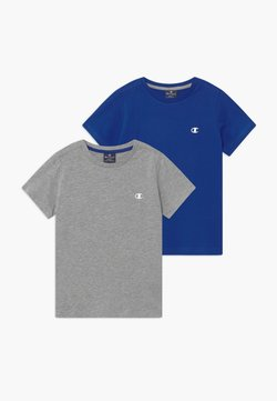 Champion - LEGACY BASICS CREW-NECK UNISEX 2 PACK  - T-shirt basic - blue/mottled grey