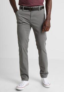 TOM TAILOR DENIM - WITH BELT PANTS - Broek - somber grey