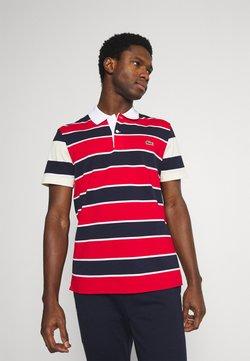 Lacoste - Poloshirt - rouge/marine naturel/clair blanc