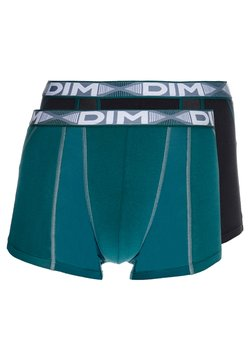 DIM - 3D FLEX AIRBOXER 2 PACK - Shorty - pacific green/black