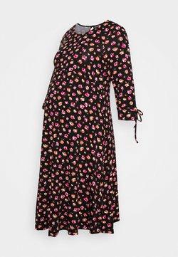 Dorothy Perkins Maternity - DRESS - Trikoomekko - black/pink