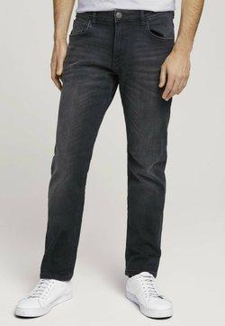 TOM TAILOR - TAVIS REGULAR  - Straight leg -farkut - overdyed  black denim