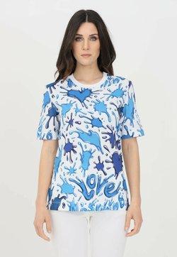 Love Moschino - T-shirt con stampa - all.splash azzu