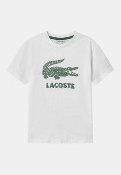 Lacoste - TEE LOGO UNISEX - T-Shirt print - blanc