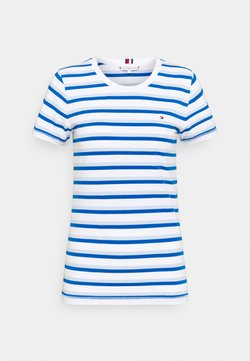 Tommy Hilfiger - COOL SLIM ROUND - T-Shirt print - ombre/weet blue