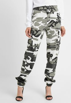 Missguided Tall - CAMO CARGO TROUSERS - Kangashousut - grey