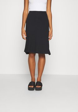 Even&Odd - BASIC - Midi skirt - Falda acampanada - black