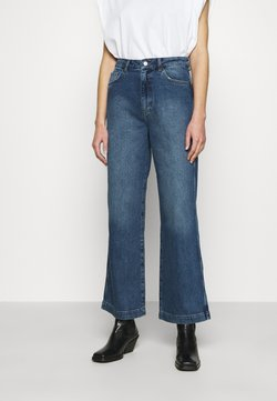NU-IN - HIGH RISE WIDE LEG  - Jeans Relaxed Fit - mid blue wash