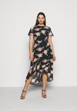 Dorothy Perkins Curve - OCCASIONL SLEEVE HIGH LOW  DRESS FLORAL - Freizeitkleid - multi coloured