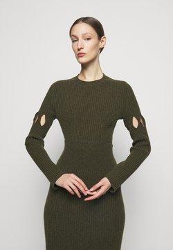 Victoria Beckham - CUT OUT CREW NECK - Pullover - khaki