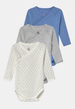 Petit Bateau - NAISS 3 PACK - Body - white/blue/grey