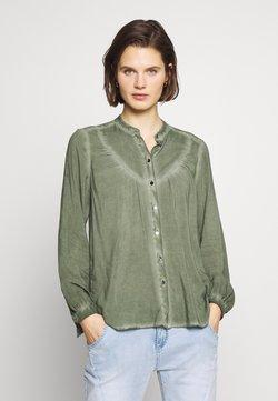 Q/S designed by - BLUSE - LANGARM - Camisa - olive