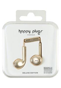 Happy Plugs - PLUS DELUXE - Hodetelefoner - champagne