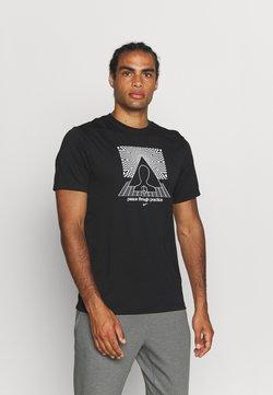 Nike Performance - TEE YOGA - Camiseta estampada - black