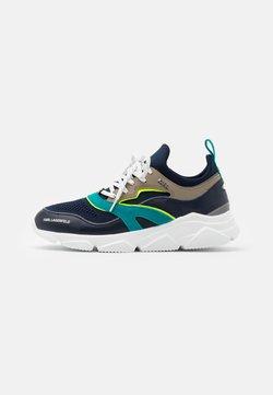 KARL LAGERFELD - VERGE LACE RUNNER - Sneaker low - mid grey/white