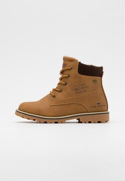 TOM TAILOR - Bottines à lacets - camel