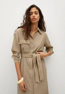 Mango - MIT TEXTUR - Sukienka koszulowa - beige