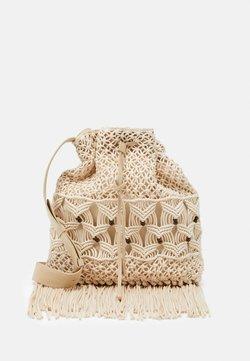 Alberta Ferretti - CROCHET SHOULDER BAG - Bolso shopping - beige
