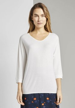 TOM TAILOR - T-SHIRT 3/4 ARM SHIRT - Langarmshirt - whisper white