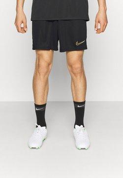 Nike Performance - ACADEMY SHORT - Short de sport - black/white/saturn gold