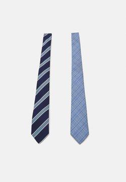 Only & Sons - ONSTOBIAS STRIPE TIE 2 PACK - Krawatte - dark navy