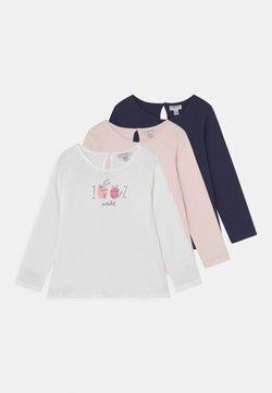 OVS - 3 PACK - Camiseta de manga larga - bright white/insignia blue/pearl