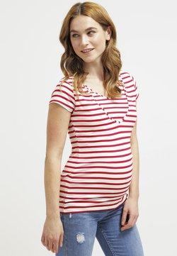 Pomkin - LISE - T-shirt med print - rot/weiß