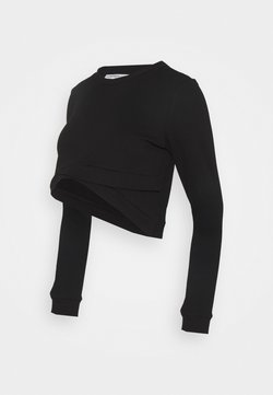 Glamorous Bloom - CROPPED - Sudadera - black
