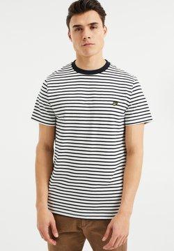 WE Fashion - MET STREEPDESSIN - T-Shirt print - white
