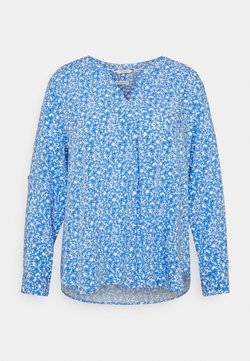 MY TRUE ME TOM TAILOR - BLOUSE WITH PLEAT DETAIL - Bluse - blue