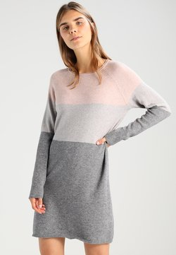 ONLY - ONLLILLO DRESS  - Vestido de punto - mahogany rose/w melange/light grey