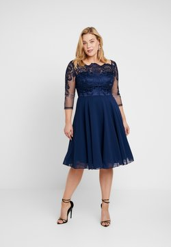 Chi Chi London Curvy - CARMELLA DRESS - Cocktailkjoler / festkjoler - navy