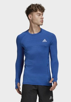 adidas Performance - RUNNER LONG-SLEEVE TOP - Maglietta a manica lunga - blue