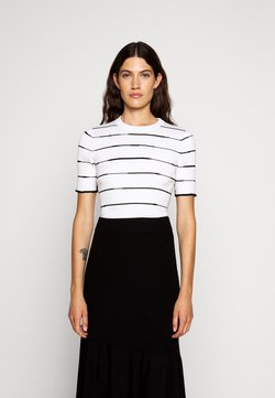 3.1 Phillip Lim - STRIPED - T-Shirt print - white/black