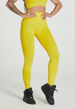 carpatree - SEAMLESS LEGGINGS MODEL ONE - Tights - yellow