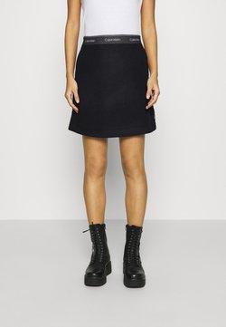 Calvin Klein - DOUBLE FACE SKIRT - Minirock - black