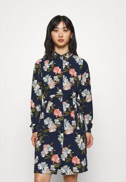 Vero Moda Petite - VMSAGA COLLAR SHIRT DRESS PETITE - Skjortekjole - navy blazer