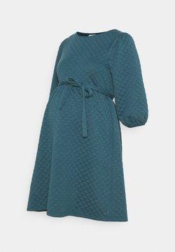 MAMALICIOUS - MLINA SHORT DRESS - Jerseykjole - mallard blue