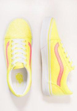 Vans - OLD SKOOL - Joggesko - neon glitter yellow/true white
