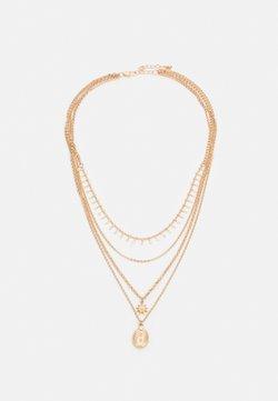 Pieces - PCSKIA COMBI NECKLACE - Collana - gold-coloured