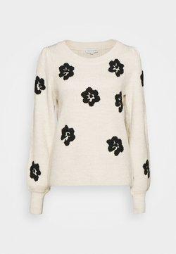 Fabienne Chapot - FENNY  - Strickpullover - cream white/black