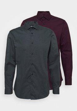 Selected Homme - SLHSLIMBROOKLYN SHIRT 2 PACK - Formal shirt - winetasting/dark grey