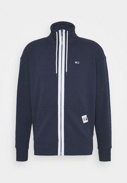 Tommy Jeans - SOLID TRACK JACKET - veste en sweat zippée - blue
