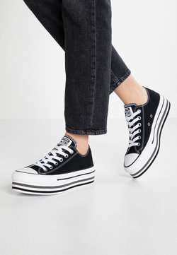 Converse - CHUCK TAYLOR ALL STAR PLATFORM LAYER - Sneakers - black/white/thunder