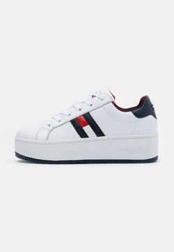 Tommy Jeans - ICONIC FLAG FLATFORM  - Sneakers laag - red/white/blue