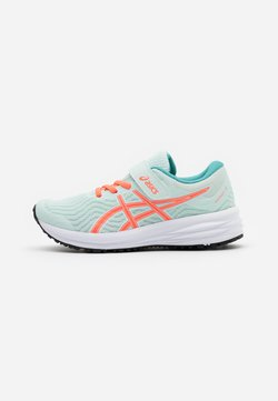 ASICS - PATRIOT 12 UNISEX - Obuwie do biegania treningowe - bio mint/sunrise red