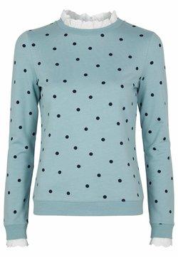 Boden - Langarmshirt - eisblau, polkatupfen