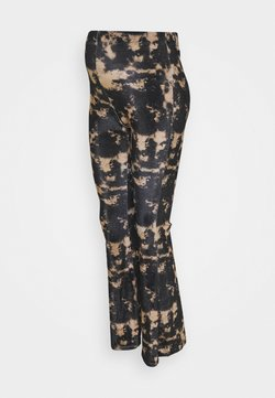 Topshop Maternity - TIE DYE  - Pantalones - black